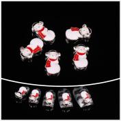 So Beauty 10pcs Nail Art Glitters Rhinestones Snowman Diy Nail Decoration