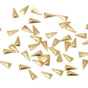 BMC Sassy 100pc Miniature Gold Metal Alloy Tribal Triangle Nail Polish Art Fashion Accessory Studs