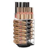 Acrylic Rotating Lipstick Holder, Alotpower Cosmetic Organiser Tower 64 Lipstick Holder Organiser Makeup Tower Organiser