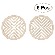 LUOEM 6PCS Wood Slices Discs Christmas Wooden Crafts DIY Crafting Decoration Centrepieces for Christmas Wedding