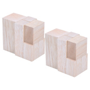 Sumind 12 Pieces Unfinished Balsa Wood Mini Carving Blocks, 4 Sizes, 50 x 50 x 100 mm, 30 x 30 x 100 mm, 30 x 30 x 50 mm, 50 x 30 x 50 mm