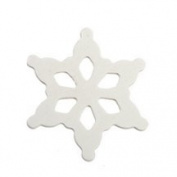 500 Pcs of White Snowflake Shape 5.1cm - 1.3cm tall x 5.1cm - 1.3cm wide x approx 0.3cm thick