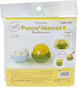Hamanaka Punyu 2 mascot Parakeet H441- 445 needle felting kits