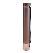 Telescopic Drawing Cylinder Plastic Painting Tube Poster Tube Carrying Case with Strap, Dark Grey