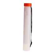 Telescopic Drawing Cylinder Plastic Painting Tube Poster Tube Carrying Case with Strap, White