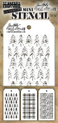 Tim Holtz Mini Layered Stencil Set 3/Pkg-Set #32