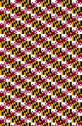 Maryland's FLAG pattern Heat Transfer Vinyl Sheet for Silhouette 30cm x 46cm HTV for Clothing - . Transfer Mask Included Premium Heat transfer Vinyl