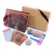 Our Adventure Book Pixar Up Handmade DIY Family Scrapbook , Wedding Photo Album, Retro Album, Anniversary Scrapbook, Child's Album ,with Bonus Gift Box