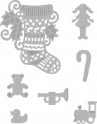 Sweet Dixie SDD245 Festive Craft Die - Stocking & Toys