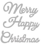 Sweet Dixie SDD252 Festive Craft Die - Happy Christmas
