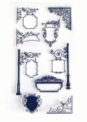 Europe Street Lamp Sign Series Clear Rubber stamp for DIY Scrapbooking