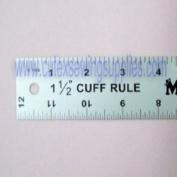 CUFF WIDTH RULER 30cm X 2.5cm - 1.3cm aluminium CUFF-WIDE RULER