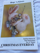 Christmas Everyday Hops 'n Kisses 30cm Bunny Sewing Pattern
