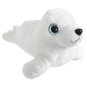 Adventure Planet White Harp Seal Plush Toy / Super-Soft Sparkle Eyes 23cm Stuffed Animal / Affordable Unique Gift and Souvenir for Your Little One!