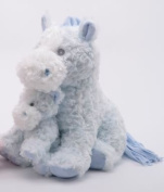 Blue Horse with Baby Plush 33cm