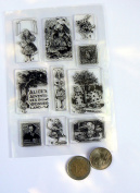 CC1 Alice in wonderland clear rubber stamp set