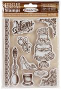 WTKCC102 Stamperia Cling Stamp 14cm x 18cm -Wedding