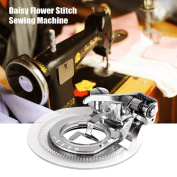 Efanr Multifunctional Daisy Fancy Flower Round Stitch Circles Embroidery Presser Foot for Singer Brother Janome and other Low Shank Sewing Machine