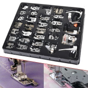 Wefond 32pcs Professional Sewing Machine Presser Feet Set Low Shank Snap-on Foot Kit for Brother, Singer, Janome, Viking