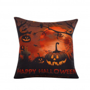 Oyedens Halloween Pumpkin Pillow Cover Square Cushion Case Pillowcase