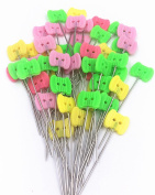 "TECH-P2"" Multi-colour Dressmaking Straight Pins Head Pins For Sewing DIY Arts & Crafts Projects-200 Pack-Owl Head"