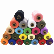 Yahead Sewing Thread Spool 24pcs Assorted Colours Polyester Sewing Thread Spool 1000 Yards Each