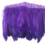 ADAMAI 2 Yards Goose Feathers Trims Fringe DIY Dress Sewing Crafts Costumes Decoration