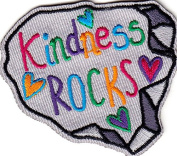 """""""KINDNESS ROCKS"""" - WORDS - LOVE - KINDNESS - Iron On Embroidered Patch"""