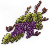 GRAPES DOUBLE BUNCH EMBROIDERED IRON ON APPLIQUE DIY Article of Clothing
