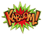 KABOOM! superhero comics retro fun embroidered applique iron-on patch BY Art vs Racing