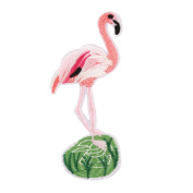 starlit DIY Fashion Pink Flamingo Tropical Birds Sew Ironed On Badge Embroidery Applique Patch