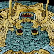 1pieces Large Dragon Design Embroidery Ethnic Style Patches Fabric Sew on Scrapbooking Sewing Accessories for Jacket TH541a