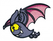 8.9cm x 6.4cm . Bat Vampire Scary Fun Holiday Halloween Night Iron patch / Sew On Patch Clothes Bag T-Shirt Jeans Badge Applique