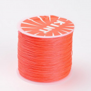 Nbeads 0.5mm 106m/roll Jewellery Making Beading Cord Round Waxed Polyester String Dark Orange