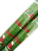 Christmas Gift Wrapping Paper (2 Rolls) Santa Green