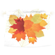 U LIFE Vintage Happy Thanksgiving Day Autumn Fall Maple Leaves Floral Gift Present Wrap Bag Eco-friendly Drawstring Bags