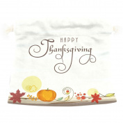 U LIFE Vintage Thanksgiving Day Turkey Pumpkin Gift Present Wrap Bag Eco-friendly Drawstring Bags