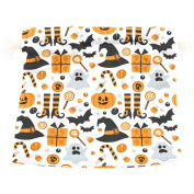 U LIFE Vintage Spooky Happy Halloween Candy Witch Gift Present Wrap Bag Eco-friendly Drawstring Bags