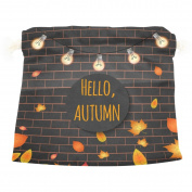 U LIFE Hello Autumn Fall Leaves Gift Present Wrap Bag Eco-friendly Drawstring Bags