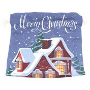 U LIFE Warm Merry Christmas Tree Snowflakes Gift Present Wrap Bag Eco-friendly Drawstring Bags