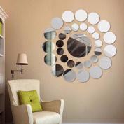 Stickers Mirror, ZTY66 DIY Home Decor 31PCS Round Mirror Vinyl Decal Mural Stickers