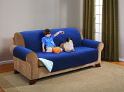 Deluxe Reversible EXTRA WIDE Sofa Furniture Protector, Blue / Light Blue