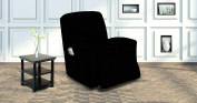 Elegant Home One piece Stretch Recliner Chair Cover Furniture Slipcovers with Remote Pocket Fit most Recliner Chairs