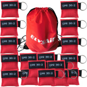 100 Pack CPR Mask Face Shield With Keychain And One-way Valve For First Aid/Rescue,CPR Breathing Barrier