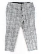Alfani NEW Black White Women's Size 24W Plus Woven Line Printed Pants
