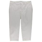 Charter Club NEW White Women's Size 24W Plus Zip-pocket Ankle Pants