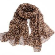 Leopard Cheetah Animal Print Fashion Women Girl Soft Wrap Stole Shawl Scarf