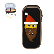 Fymanlu Santa Poop Big Capacity Pencil Case Bag Portable Stylish Nylon Pen Cases