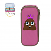 Fymanlu Poop Princess Big Capacity Pencil Case Bag Portable Stylish Nylon Pen Cases