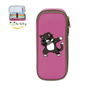 Mybox Dabing Cat Cube Pen Case Pencil Box Soft Canvas Student Stationery Office Storage